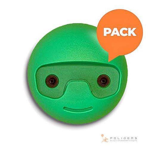 appendi abiti bambini tondino polideas pack verde