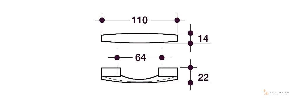 disegno maniglia mobile d a tecnico