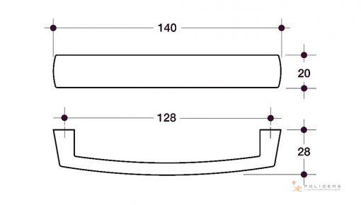 disegno maniglia mobile d b fa tecnico