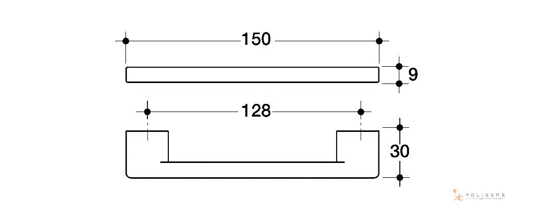 disegno maniglia mobile d b tecnico
