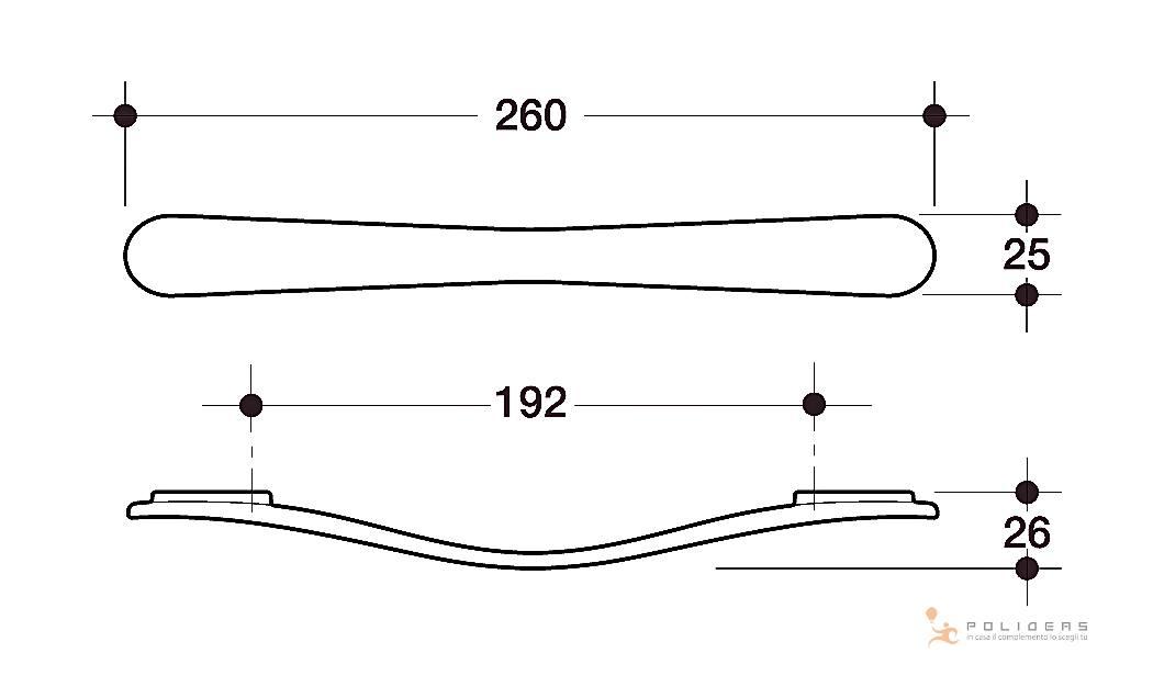disegno maniglia mobile d dis
