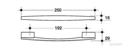 disegno maniglia mobile d e tecnico