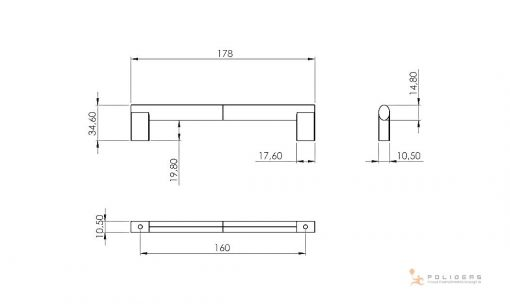 disegno maniglia mobile d mm