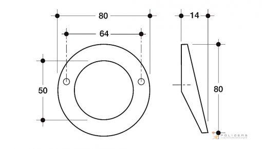 disegno maniglia mobile d tecnico