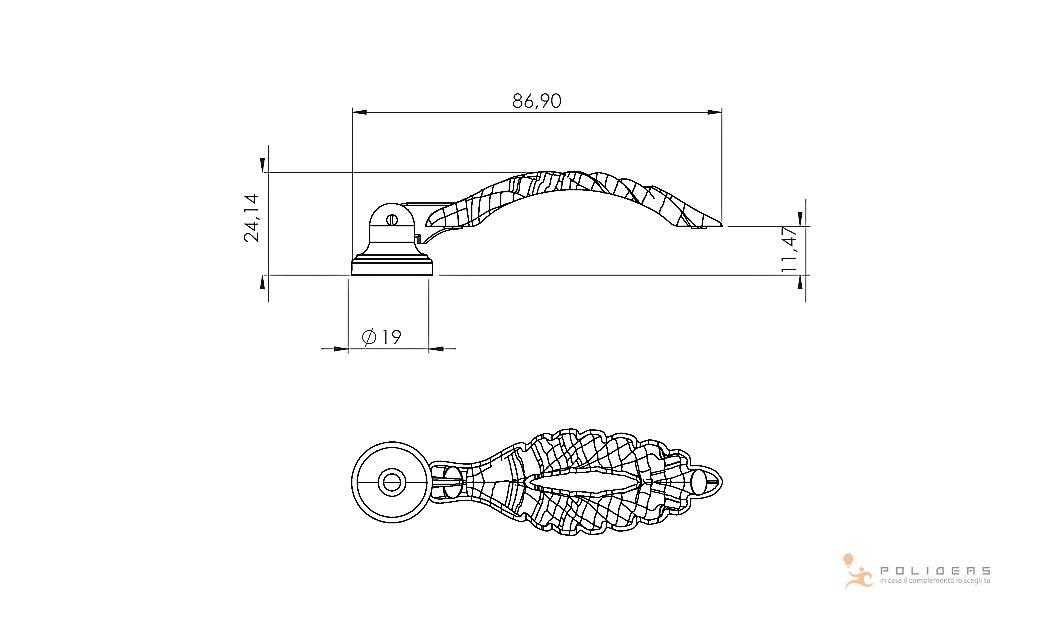 disegno maniglia mobile