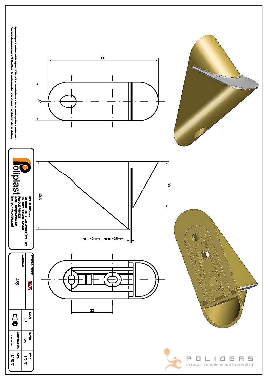 disegno portamensola