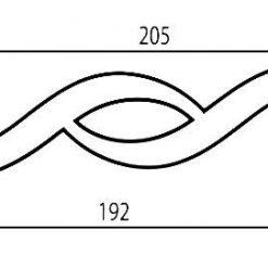 disegno tecnico maniglia cromata design yakamoz